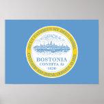 Boston Flag Poster