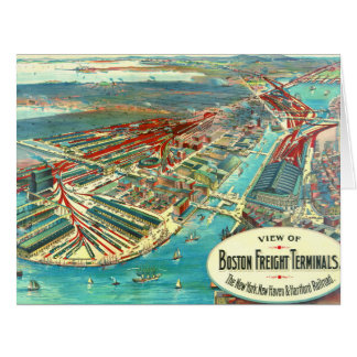 Boston Freight Terminals 1903 Big Greeting Card