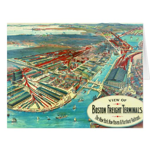 Boston Freight Terminals 1903 Card