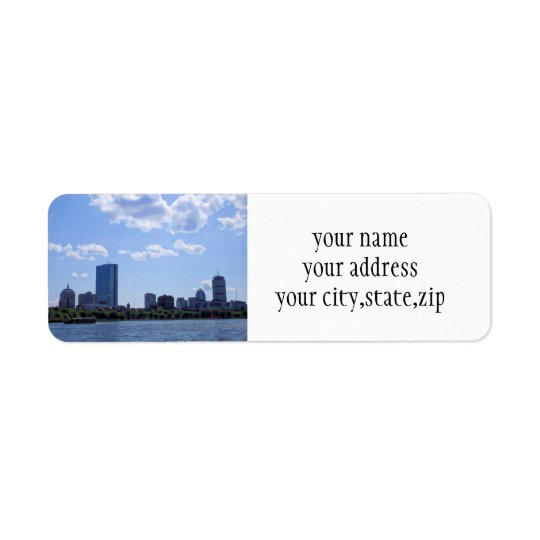 Boston From The Charles River Return Address Label