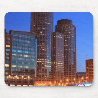 Boston Harbor and skyline.  Boston is one of the 2 Mouse Mat