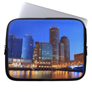 Boston Harbor and skyline.  Boston is one of the 5 Laptop Sleeve