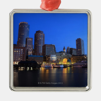 Boston Harbor and skyline.  Boston is one of the 8 Christmas Ornament