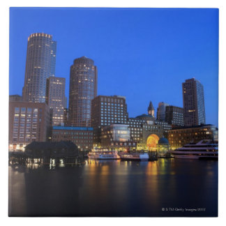 Boston Harbor and skyline.  Boston is one of the 8 Tile