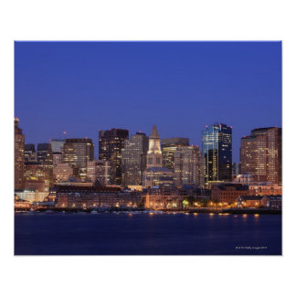 Boston Harbor and skyline.  Boston is one of the 9 Poster
