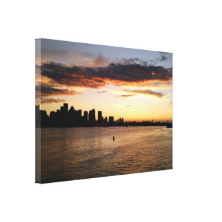 Boston Harbor at Sunset Canvas Print