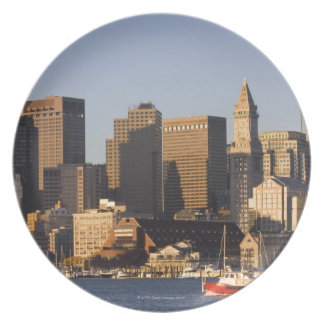 Boston Harbor, Massachusetts Party Plates