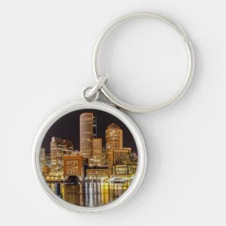Boston Harbor Silver-Colored Round Key Ring