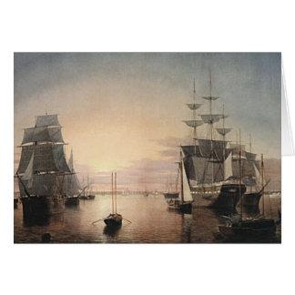 Boston Harbor Sunset card