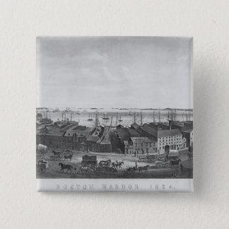 Boston Harbour, 1854 15 Cm Square Badge