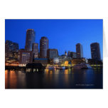 Boston Harbour and skyline.  Boston is one of the Greeting Card