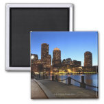 Boston Harbour and skyline.  Boston is one of the Square Magnet