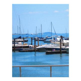 Boston Harbour Boats Sail SailBoats Lake views Customized Letterhead