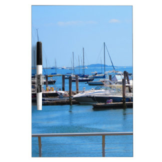 Boston Harbour Boats Sail SailBoats Lake views Dry-Erase Boards