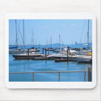 Boston Harbour Boats Sail SailBoats Lake views Mouse Pad