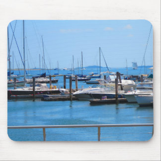 Boston Harbour Boats Sail SailBoats Lake views Mouse Pad