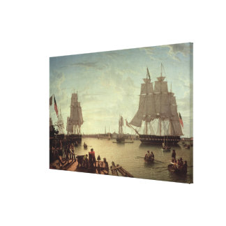 Boston Harbour from Constitution Wharf Canvas Print