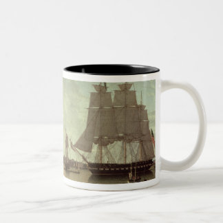 Boston Harbour from Constitution Wharf Two-Tone Coffee Mug