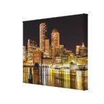 Boston Harbour Stretched Canvas Print