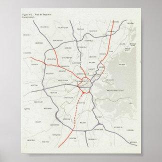Boston Highway Plan 1965 Posters