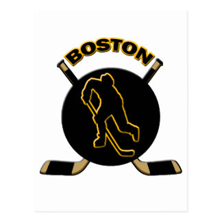 BOSTON HOCKEY POSTCARD