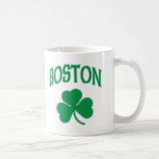 Boston Irish Shamrock Coffee Mug