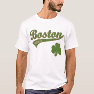 Boston Irish Shamrock t shirt