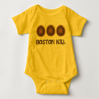Boston Kid Cream Pie Donut Doughnut Massachusetts Baby Bodysuit
