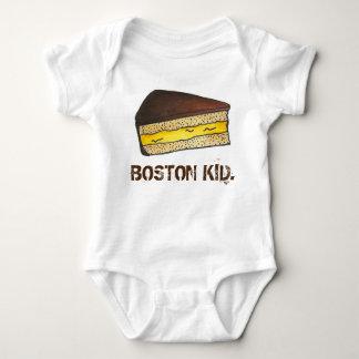 BOSTON KID Cream Pie Slice Massachusetts Foodie Baby Bodysuit