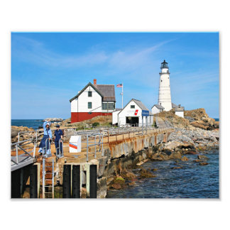 Boston Lighthouse, Massachusetts Photo Print