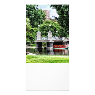 Boston MA - Boston Public Garden Bridge Customised Photo Card