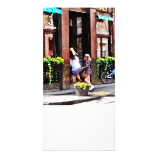 Boston MA - Cafe in Little Italy Personalised Photo Card