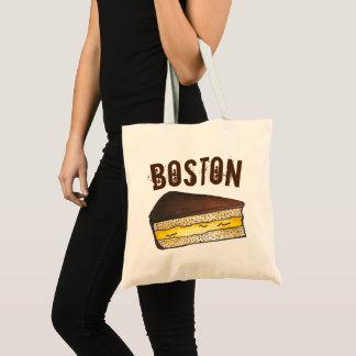 Boston MA Cream Pie Slice Foodie Massachusetts Tote Bag
