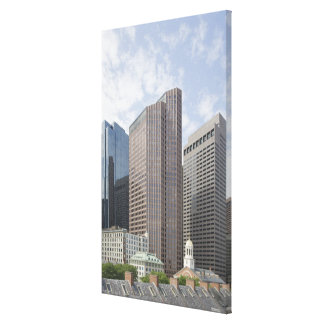 Boston, MA from the Faneuil Hall Marketplace Canvas Print