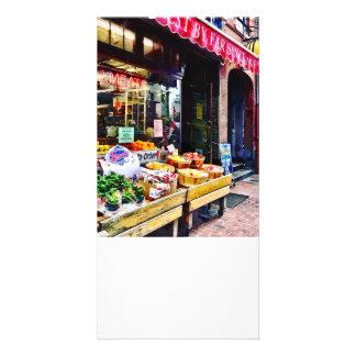 Boston MA - Fruit Stand Customised Photo Card