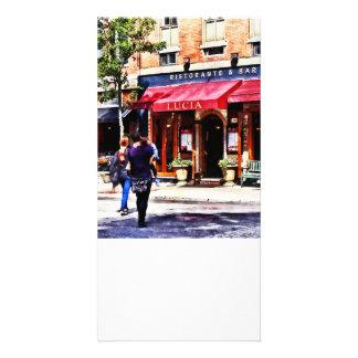 Boston MA - Hanover Street North End Personalised Photo Card
