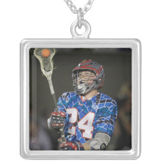 BOSTON, MA - JULY 09: Chris Eck #24 Silver Plated Necklace