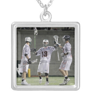 BOSTON, MA - JULY 09:  Stephen Berger #13 Silver Plated Necklace