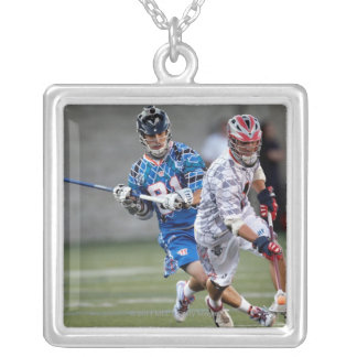 BOSTON, MA - JULY 9:  Kyle Hartzell #81 2 Silver Plated Necklace