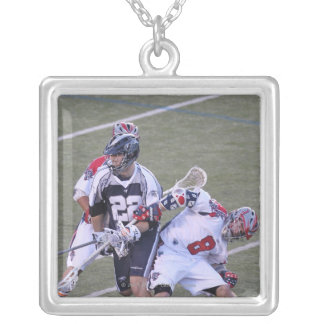 BOSTON, MA - JUNE 04:  Greg Downing #8 2 Silver Plated Necklace