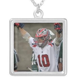 BOSTON, MA - JUNE 11:  Brad Ross #10 Silver Plated Necklace