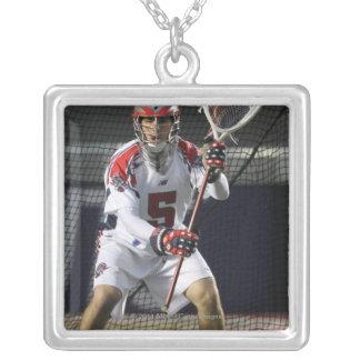 BOSTON, MA - JUNE 11:  Jordan Burke #5 Silver Plated Necklace