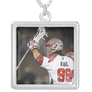 BOSTON, MA - JUNE 4:   Paul Rabil #99 Silver Plated Necklace