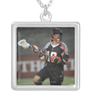 BOSTON, MA - MAY 21:  Billy Bitter #10 Square Pendant Necklace
