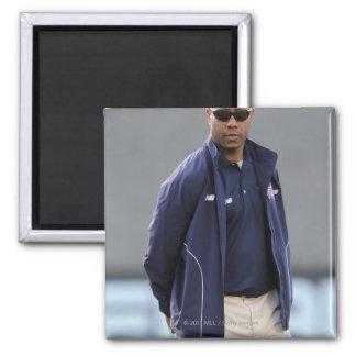 BOSTON, MA - MAY 21:  Coach Bill Daye Square Magnet