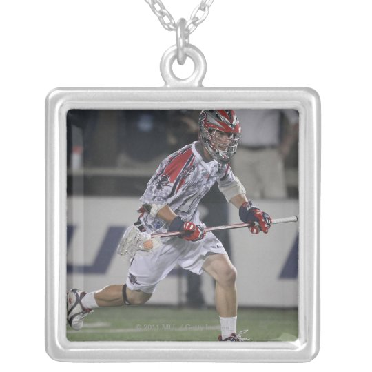 BOSTON, MA - MAY 21:  P.T. Ricci #1 Silver Plated Necklace