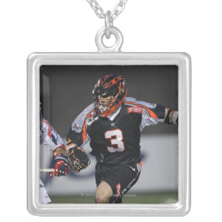 BOSTON, MA - MAY 21:  Steve Gianone #3 Square Pendant Necklace