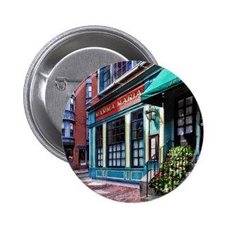 Boston Ma - North End Restaurant 6 Cm Round Badge