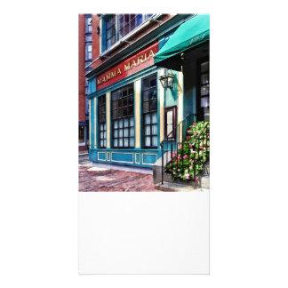 Boston Ma - North End Restaurant Picture Card