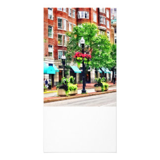 Boston MA - Shops Along Boyleston Street Picture Card